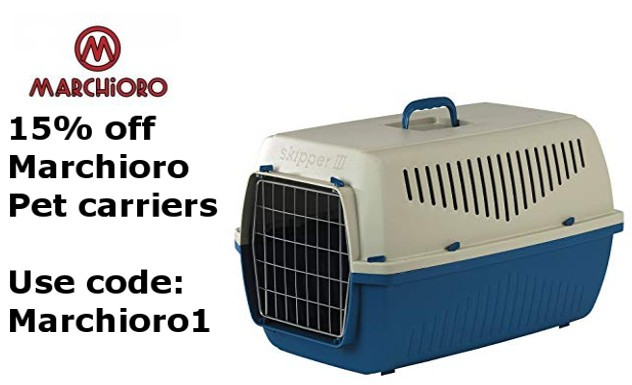 15% off Marchioro pet carriers