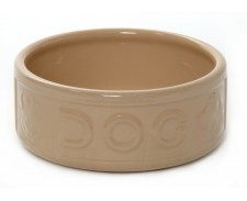 Rayware Ceramic Feed Bowl Dog Lettered 7inch by
