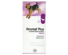 Drontal Plus Flavour Bone Shaped Worming Tablets x 24 by Drontal