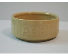 Ceramic Rabbit Lettered Feed Bowl 5inch by Misc