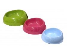 Rosewood Feed-Time Deluxe Melamine Dog Bowl Medium 9inch Assorted Colours by Rosewood