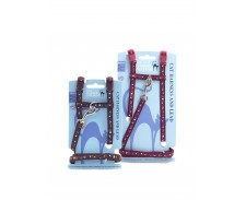 Rosewood Paw Print Cat Harness & Lead Set Medium by Rosewood