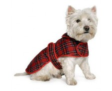 Dog Coat Highland Red Tartan Small by Ancol