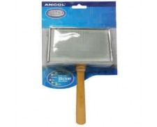 Ancol Heritage Wooden Handle Soft Slicker Brush - Large by Ancol