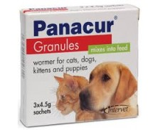 Panacur granules 22% 4.5g Cat & Dog x 3 by Panacur