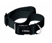 Canac Adjustable Collar Black Size 12 - 18 by Misc