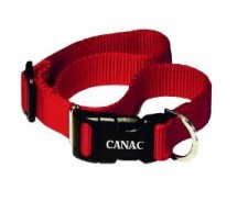 Canac Adjustable Collar Red Size 12 - 18 by Misc