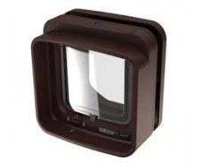 Sureflap Dualscan Cat Flap Brown by Misc