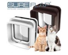 Sureflap Microchip Cat Flap Brown by Misc