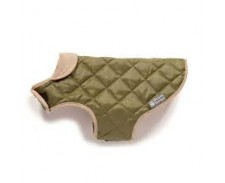 Dog Coat Quilted F/Green 45cm 18