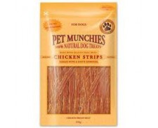 Pet Munchies Dog Chicken Strips 8 x 90g by Pet Munchies
