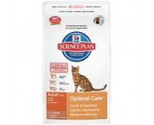 Hill's Science Plan Feline Adult Optimal Care Lamb by Hills