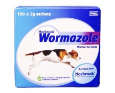 Wormazole granules Dog & Puppy 4g by Norbrook Labs.(gb) Ltd.