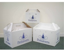 Petsavers Cardboard Cat Box by